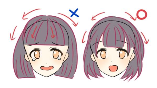 初心者必見!髪型別・髪の描き方のコツ